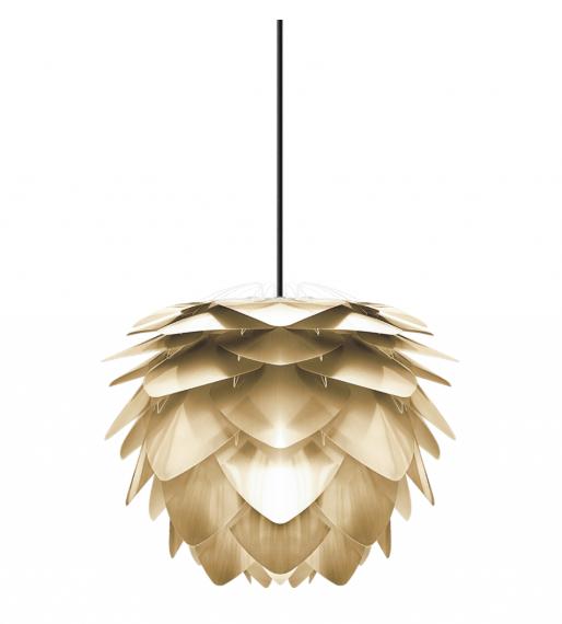 Lampskärm i mässingsfärgad plast
