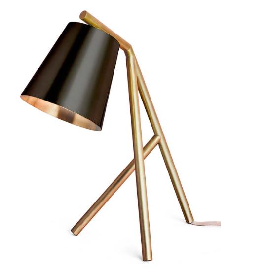 Lampa i mässing och svart